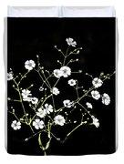 White Wild Flowers Duvet Cover