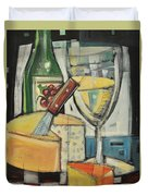 White Wine And Cheese Duvet Cover