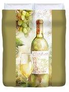 White Wine Watercolor Duvet Cover