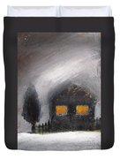 White Winter Night Duvet Cover