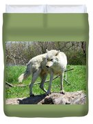 White Wolf 3 Duvet Cover