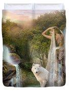 White Wolf Falls Duvet Cover