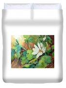 White Woodland Flower Duvet Cover