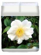 White-yellow Flower. Little Sun Duvet Cover