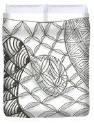 White Zen 14 Duvet Cover