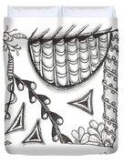 White Zen 15 Duvet Cover