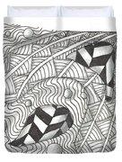 White Zen 18 Duvet Cover