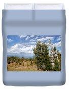 Whitebark Pine Trees Overlooking Crater Lake - Oregon Duvet Cover