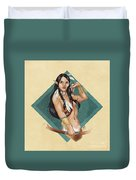 Whitefeather V.2 Duvet Cover by Brandy Woods