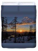Whitefish Sunset Duvet Cover