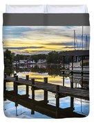 White's Cove Sunset Duvet Cover