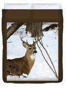 Whitetail Buck Profile Duvet Cover