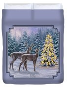 Whitetail Christmas Duvet Cover by Crista Forest