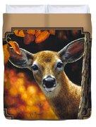Whitetail Deer - Surprise Duvet Cover