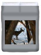 Whitetail Deer Threw The Trees Duvet Cover