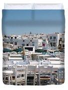 Whitewashed Naoussa Duvet Cover