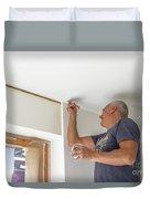Whitewasher Plastering Wall Duvet Cover