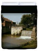 Whitewater Canal Locks Metamora Indiana Duvet Cover