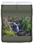 Whitewater Falls In Nc Duvet Cover
