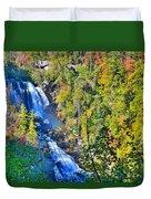 Whitewater Falls North Carolina Duvet Cover