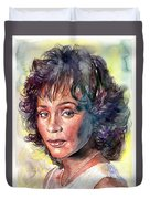 Whitney Houston Portrait Duvet Cover
