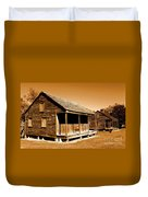 Whitney Plantation Slave Cabins Duvet Cover