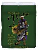 Who Shall Rouse Judah-yellow Trim Duvet Cover