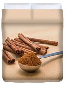 Whole Cinnamon Sticks With A Heaping Teaspoon Of Powder Duvet Cover