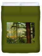Whonnock Lake Through The Trees Duvet Cover