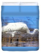 Whooping Crane Reflection Duvet Cover