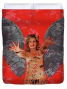 Whore Of Babylon By Mb Duvet Cover