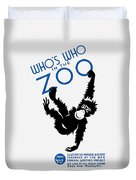 Who's Who In The Zoo - Wpa Duvet Cover