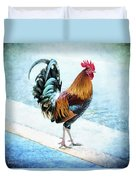Why Did The Chicken... Duvet Cover