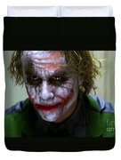 Why So Serious Duvet Cover by Paul Tagliamonte