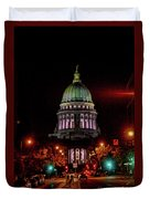 Wi State Capitol From West Washington Ave Duvet Cover
