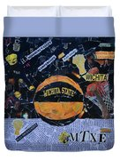 Wichita State University Shockers Collage Duvet Cover