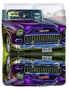 Wicked 1955 Chevy - Reflection Duvet Cover