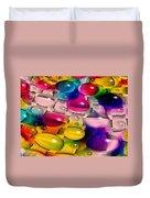 Wicker Marble Rainbow Fractal 2 Duvet Cover
