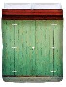 Wide Barn Door Duvet Cover