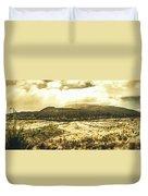 Wide Open Tasmania Countryside Duvet Cover