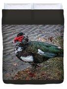 Wierd Muscovy Duck Duvet Cover