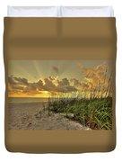Wiggins Pass Sunset Duvet Cover