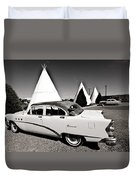 Wigwam Motel Classic Car #2 Duvet Cover