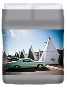 Wigwam Motel Classic Car #3 Duvet Cover