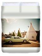 Wigwam Motel Classic Car #4 Duvet Cover