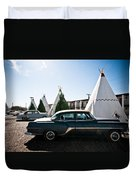 Wigwam Motel Classic Car #5 Duvet Cover