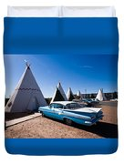 Wigwam Motel Classic Car #6 Duvet Cover