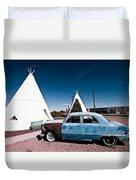 Wigwam Motel Classic Car #7 Duvet Cover