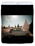 Wigwam Motel Classic Car #8 Duvet Cover