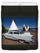Wigwam Motel Classic Car Duvet Cover